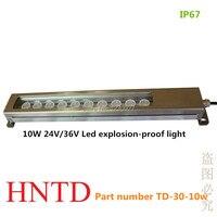 HNTD 10 W 24 V/36 V tipo de Condensação LED máquina do torno do metal à prova de explosão luz IP67 À Prova D' Água CNC máquina ferramenta de trabalho da lâmpada|light ip67|machine lamp|cnc lamp -