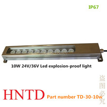HNTD 10W 24V/36V Condensing type  LED metal lathe machine explosion-proof light IP67 Waterproof CNC machine work tool lamp