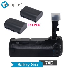 Mcoplus Venidice VD-70D Vertical Battery Grip Holder with 2pcs LP-E6 Batteries For Canon EOS 70D Camera as BG-E14 as MK-70D