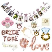 Chicinlife 1 Juego de globos para ser novia, despedida de soltera, novia para ser boda, accesorios de ceremonia, suministros de decoración