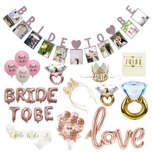 Image 1 - Chicinlife 1Set Braut Zu Werden Ballon Henne Bachelorette Party Braut Zu Werden Hochzeit Engagement Zeremonie Zubehör Dekoration Liefert