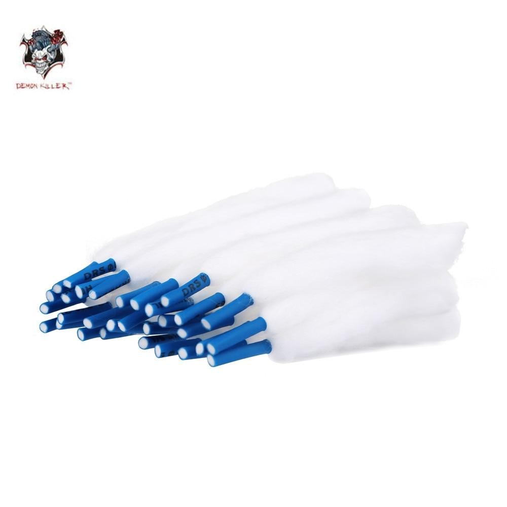 DemonKiller Vape Cotton 30Pcs/Bag Slacker Cotton Hardcover Easy To Use Lace Cotton For Rda RDTA Atomizer