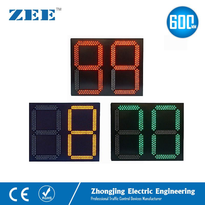 Traffic Light LED Countdown Timer 0-99s LED Count Down Timer Traffic Signal Timer 600mm 800mm Red Yellow Green 2 Digit 3 Colors