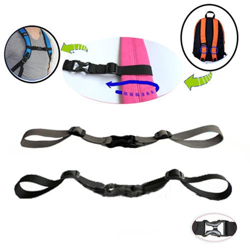 Newest Outdoor Sport Adjustable Backpack Sack Bag Webbing Sternum Buckle Clip Strap Chest Sport Bag Accessories Anti-slip Tape
