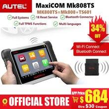 Autel MaxiCOM MK808TS профессиональный Bluetooth OBD2 Диагностический сервис сканирующий инструмент Автомобильный сканер Программирование TPMS сенсор PK MK808 TS608