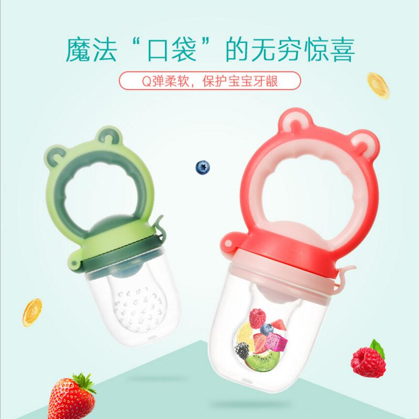 Baby Pacifier Bottles Nipple Teat Fresh Fruit Nibbler Baby Bite Molars Pacifier Infant Food Kids Nipple Feeding Safe Feeder