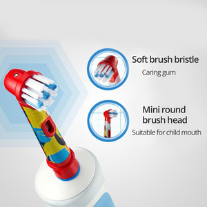 Image 5 - של ילד חשמלי מברשת שיניים אוראלי B 2D נטענת אינדוקטיביים עמיד למים רוטרי סוג נקי לבנות רך זיפים