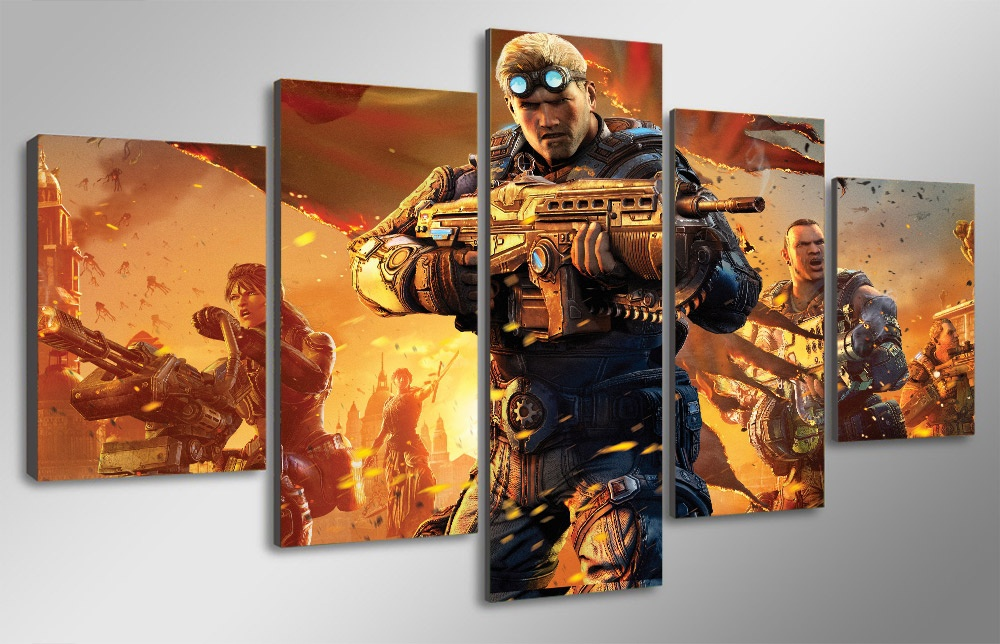 Game Poster Gears of War Judgment Canvas Painting Home Decor Wall Pictures for Living Room Wall Art Modular Pictures