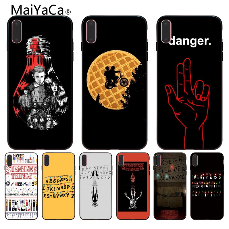 Us 121 39 Offmaiyaca Stranger Things Wallpaper Coque Shell Phone Case For Apple Iphone 8 7 6 6s Plus X 5 5s Se Xr Mobile Cover In Half Wrapped