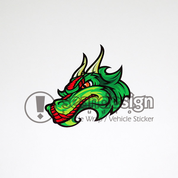 Hot sale Dragon Helmet Motorcycle Auto SUV Sticker Decals Waterproof T01