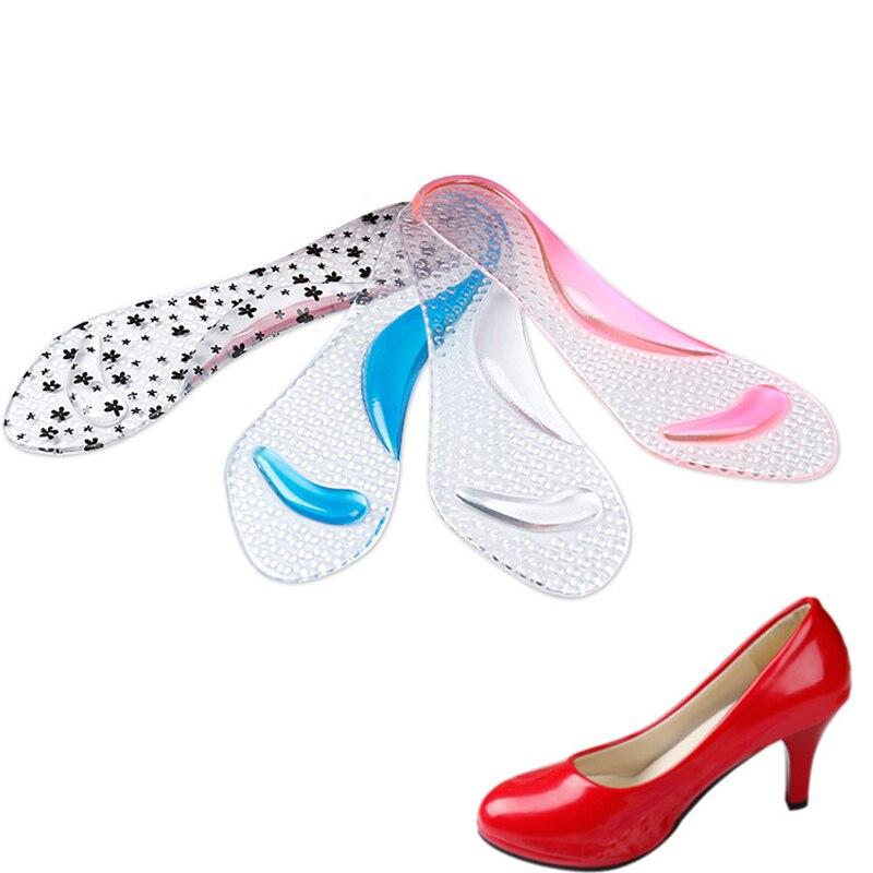 a2b52752 Plantillas de Gel de silicona para mujer soporte de arco de pie plano  ortopédico previene los zapatos de tacón alto de Cocoon de pie nuevo