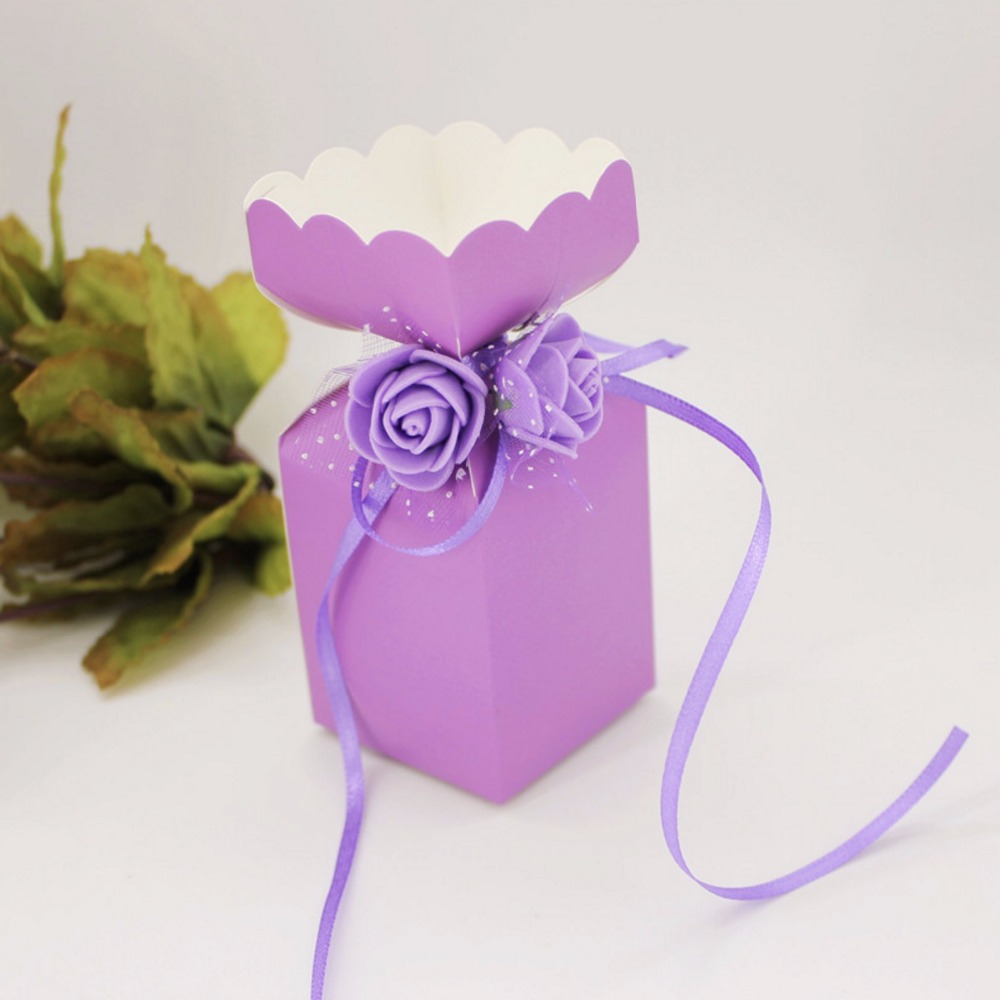 Blue / Purple / Pink / Red European Vase flower Wedding Favors Candy ...