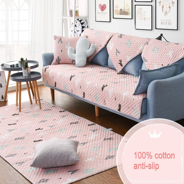 Pink bay window mat110*210cm ,quilted 100% cotton environmental ...