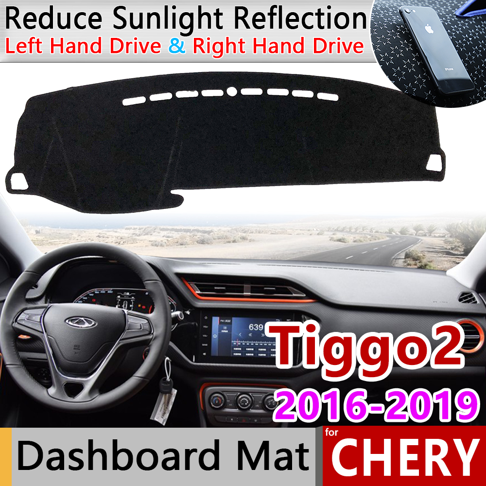 For Chery Tiggo 2 2016 2017 2018 2019 Anti-Slip Mat Dashboard Cover Sunshade Pad Dashmat Accessories Tiggo2 Tiggo 3x MVM X22 DR3