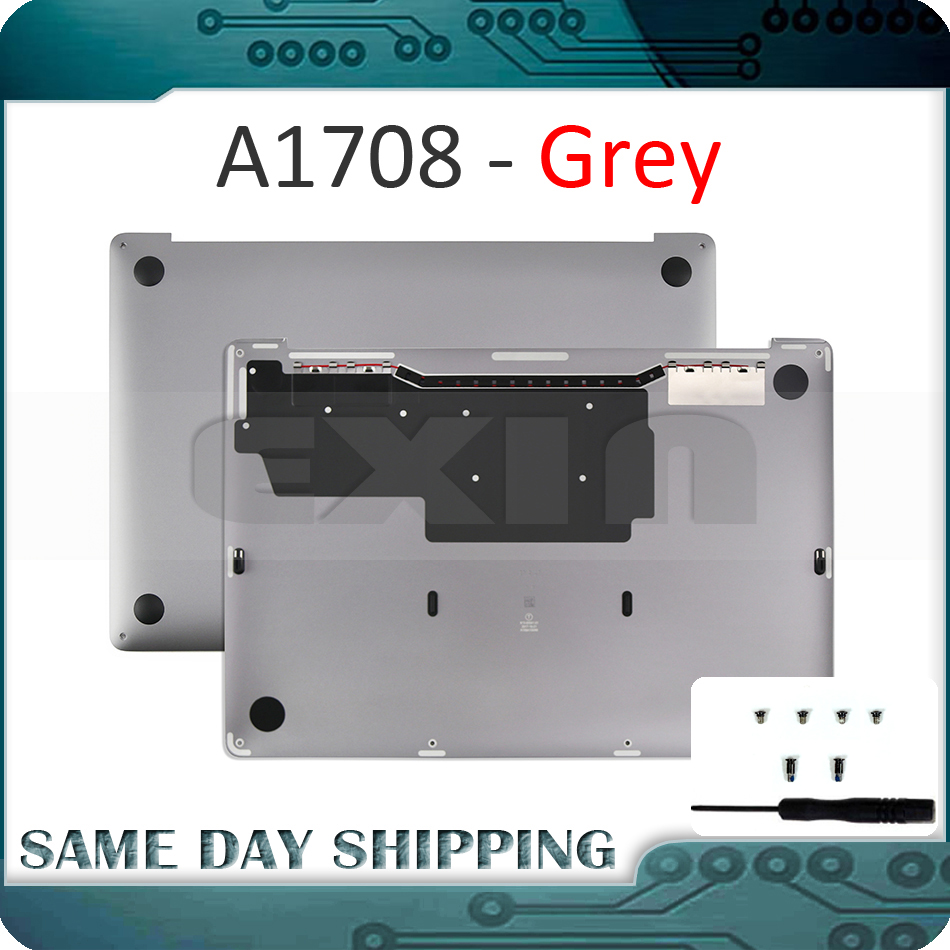 New Space Grey Gray Color A1708 Lower Bottom Case for Apple Macbook Retina Pro 13 A1708 Bottom Case Cover 2016 2017 Year image