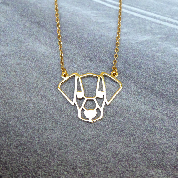 Cute Jack Russell Terrier Head Necklace Female and Male Gift Jewelry Necklace--12pcs/Lot(6 Colors Free Choice)