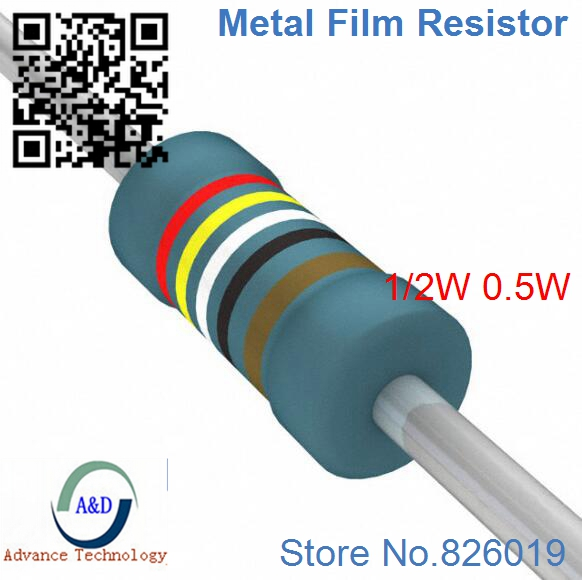 Only original 2 4K ohm 1 2W 1 Radial DIP Metal Film Axial Resistor 2 4Kohm