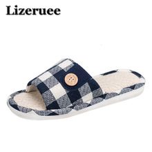 цены 2018 Natural Flax Home Slippers Indoor Floor Men Shoes Silent Sweat Cotton and linen Slippers For Summer couple Slippers ME284