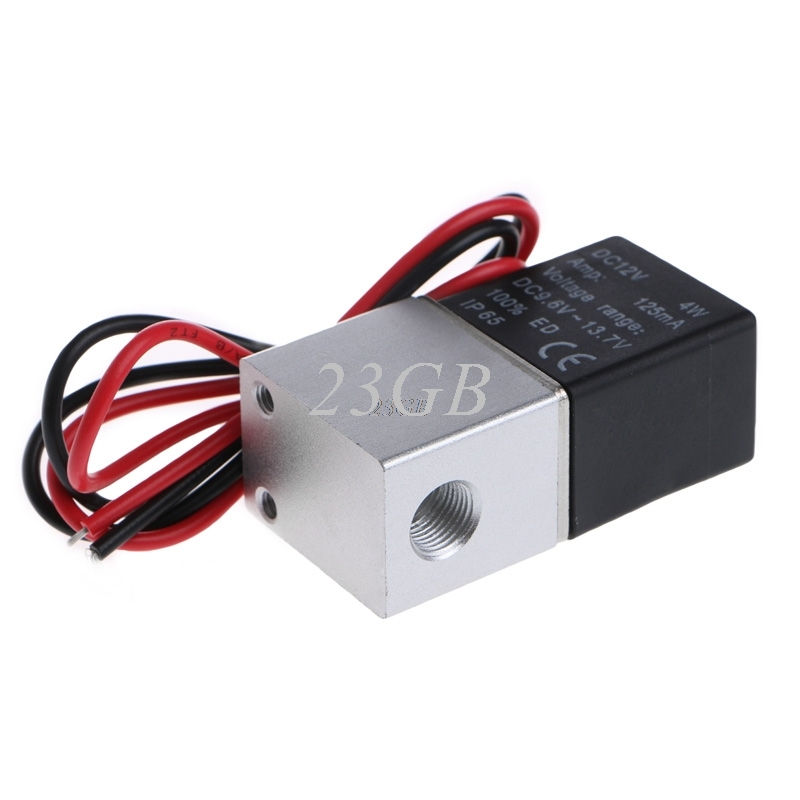 Normally Closed Solenoid valve 2V025-06 12V DC 1/8 Wire for Water Air Gas M02 free shipping normally closed solenoid valve 2v025 08 220vac 1 4 high qulity for water air gas 2v sereis two way valve