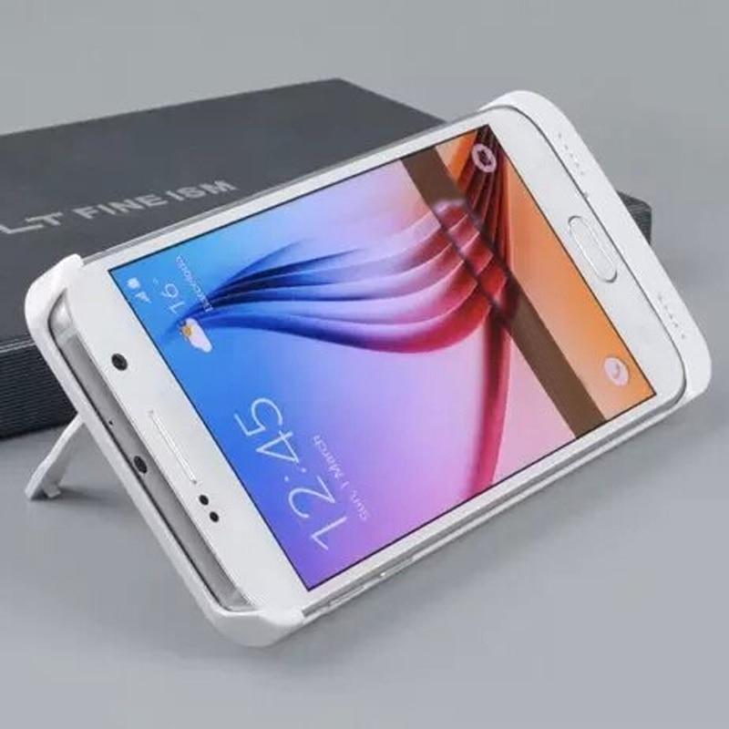 imágenes para Portable 4200 mAh PowerBank Banco de la Energía Caja de Batería Externa Del Caso del Cargador para Samsung Galaxy S6 G9250 Borde Negro