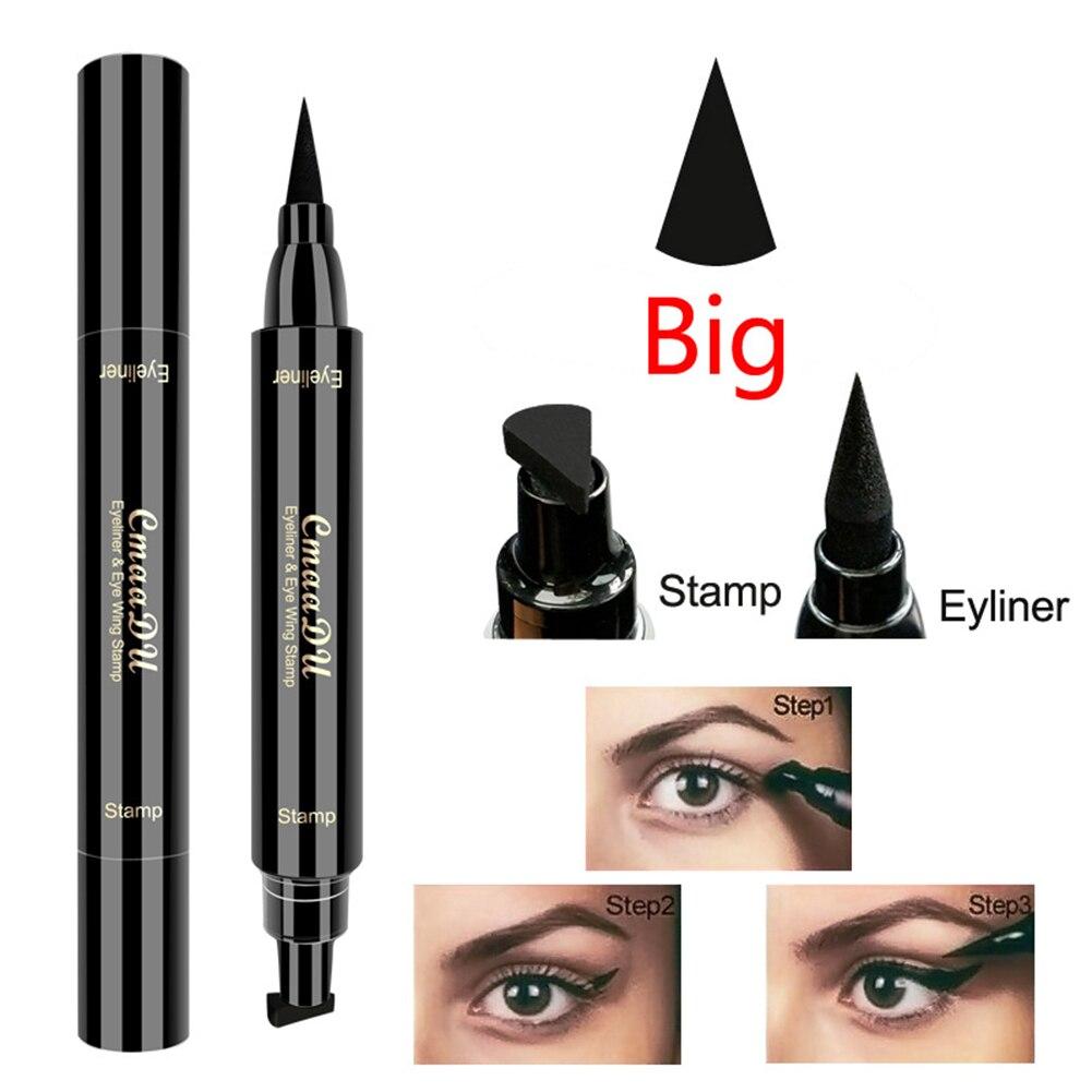 CmaaDu Double Head Black Seal Liquid Eyeliner Fast Dry Waterproof Wing Stamp Magnetic Eyeliner Liquid makeup Cosmetics in Eyeliner from Beauty Health