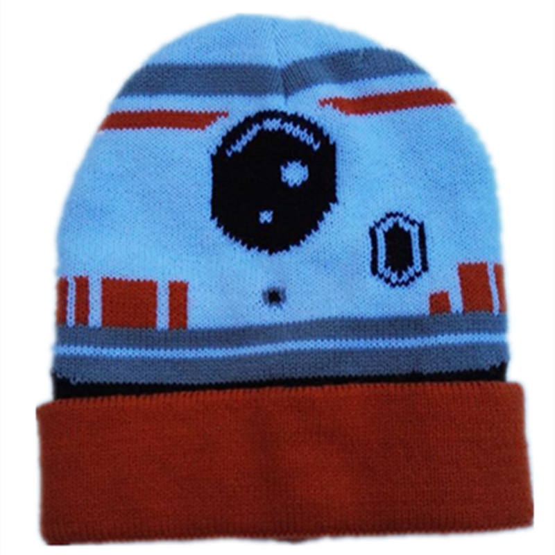 d01990d187b Wars Darth Vader Stormtrooper BB 80 Knitted Caps Cartoon Fashion Mask  Beanies for Baby Kid