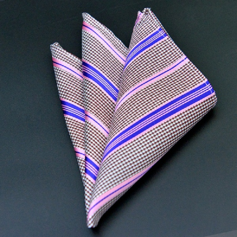Floral Silk Satin Pocket Square Hanky Jacquard Woven Classic Wedding Party Handkerchief