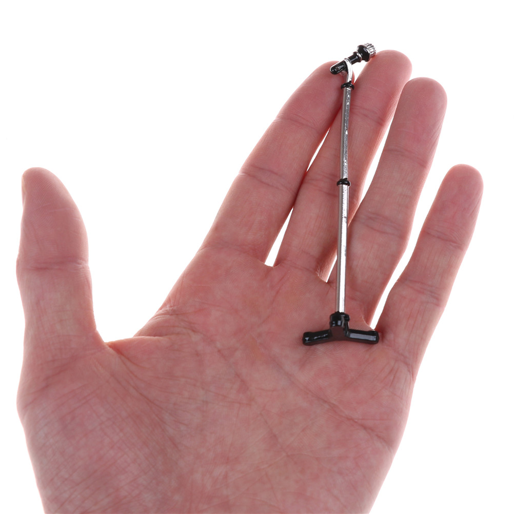 New 1:12 Doll House Cute Mini Metal Microphone Model Dollhouse Miniature Furniture Accessories