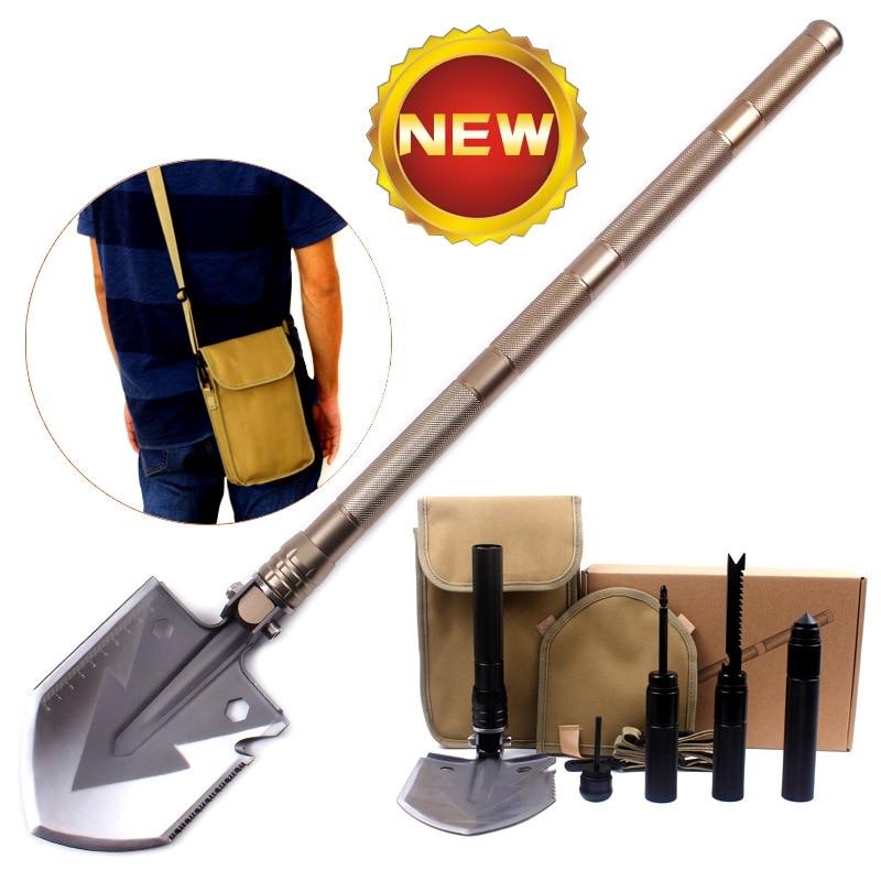 New Multi Functional Shovel Folding Self Defense Armies Outdoor Camping Supplies Tools Survival Equipment dali opticon 5 walnut