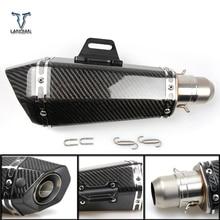 36 51mm האוניברסלי CNC אופנוע צינור פליטה עם צעיף עבור טריומף בונוויל t120 רחוב תאום אמריקה דייטונה 955i
