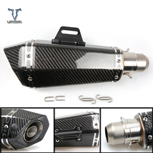 36 51mm Universal CNC Motorcycle Exhaust Pipe With Muffler For Triumph bonneville t120 street twin AMERICA daytona 955i