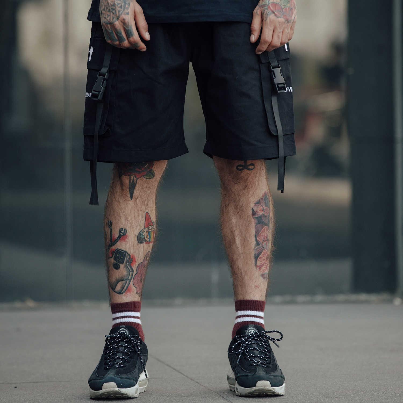 OSCN7 2 цвета уличная военная одежда с накладной карман дизайн простые шорты для мужчин 2019 мода Бермуды графика Короткие штаны с принтом для мужчин 901