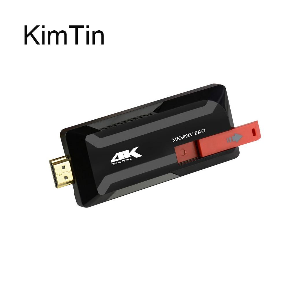 KimTin MK809 IV PRO TV Dongle Rockchip RK3229 Quad Core Cpu Penta-core Android 5.1 RAM 2GB ROM 8GB Bluetooth 4K H.265 TV Stick jesurun nx004 quad core android 4 2 2 google tv player w 2gb ram 8gb rom bluetooth eu plug page 1