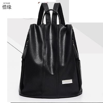 Fashion PU Leather Backpack Women black Bags Preppy Style BackpackS Girls School Bags Zipper Leather BAOBAO shoulder bags red 2016 fashion women waterproof pu leather rivet backpack women s backpacks for teenage girls ladies bags with zippers black bags