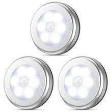 PIR Motion Sensor Under Cabinet Light Auto Smart Night Lamp Lampada LED Lights For Home Bedroom Closet Kitchen Wardrobe Light недорого