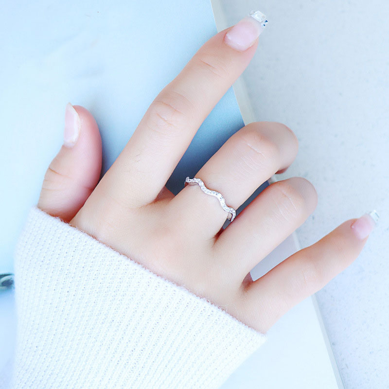 Young Girls Sweet Jewelry Finger Ring Real 925 Sterling Silver Cubic Zirconia Shiny Ring Infinity Forever Romantic Gift for Her in Wedding Bands from Jewelry Accessories