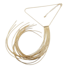 ФОТО top quality 2018 tassel long multilayer sweater chain women fine copper chain necklace statement fashion necklaces party jewelry