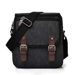 Image 3 - Hot Fashion Canvas Men Shoulder Bags Vintage Messenger Crossbody Bags for Men Satchel Big Capacity Casual Tote Bag Men Handbag