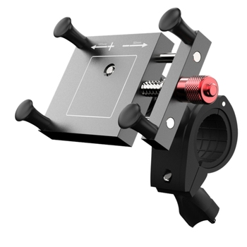 Motorcycle And Bicycle Cell Phone Holder Cnc Aluminum Universal Adjustable Phone Mount Smartphone Holder Bike Handlebar Phone