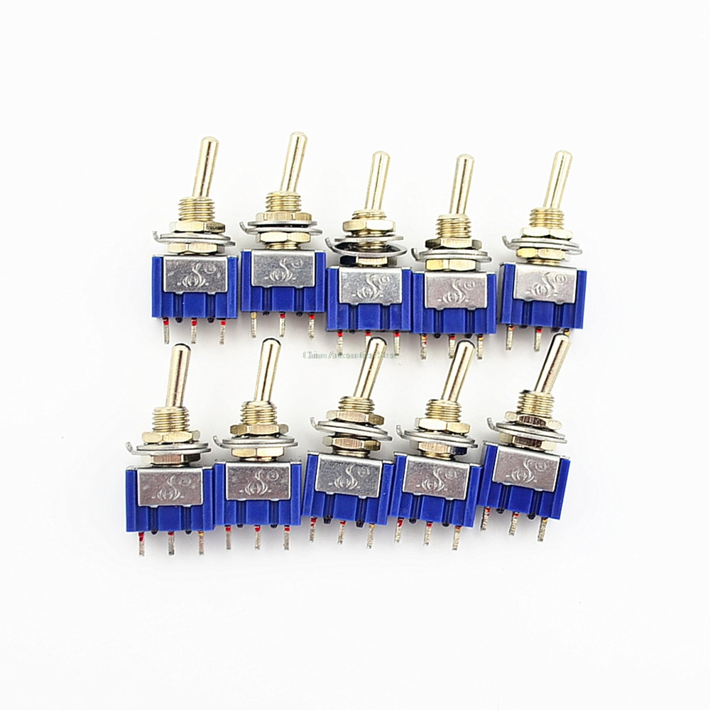 10pcs On Off 3 Pin Position Mini Latching Toggle Switch Ac With A Relay You Would Still Need 2 Switches 125v 6a 250v 3a
