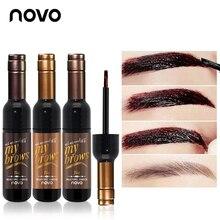 NOVO Eye Makeup Red Wine Eye Brow Tattoo Tint Long-lasting Waterproof Eyebrow Gel Cream Mascara Make Up Eye Care Cosmetics
