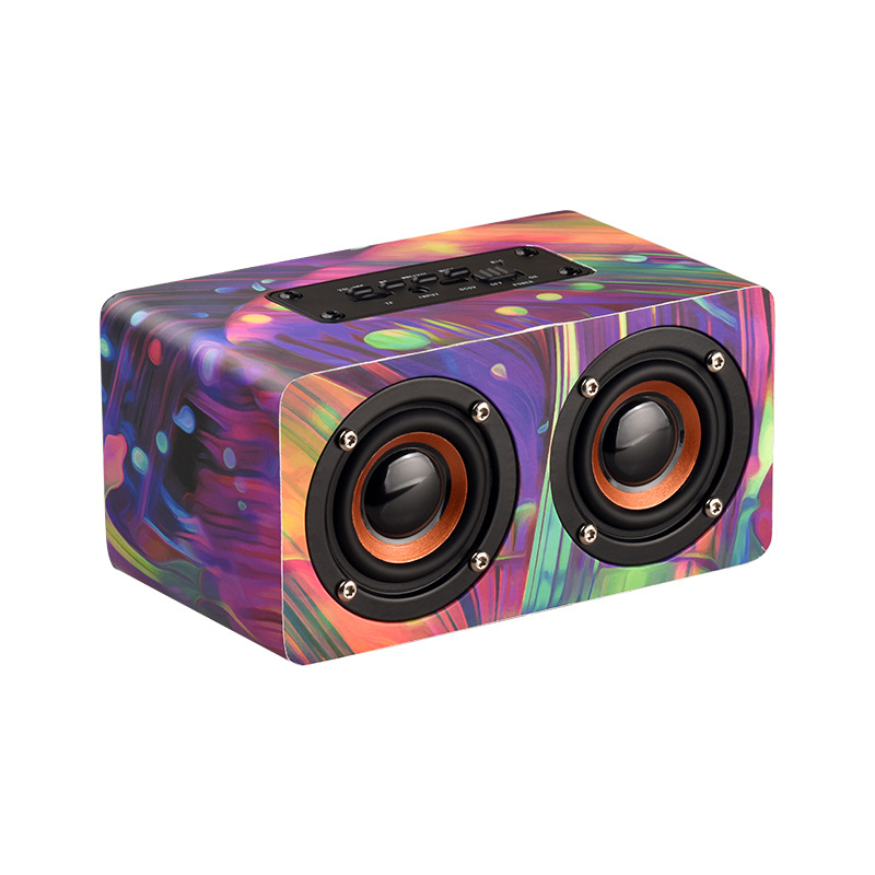 Color Wooden Wireless <font><b>Bluetooth</b></font> <font><b>Speaker</b></font> Surround Stereo Wooden Computer <font><b>Speakers</b></font> Stereo Subwoofer <font><b>Bluetooth</b></font> <font><b>Bookshelf</b></font> <font><b>Speakers</b></font> image
