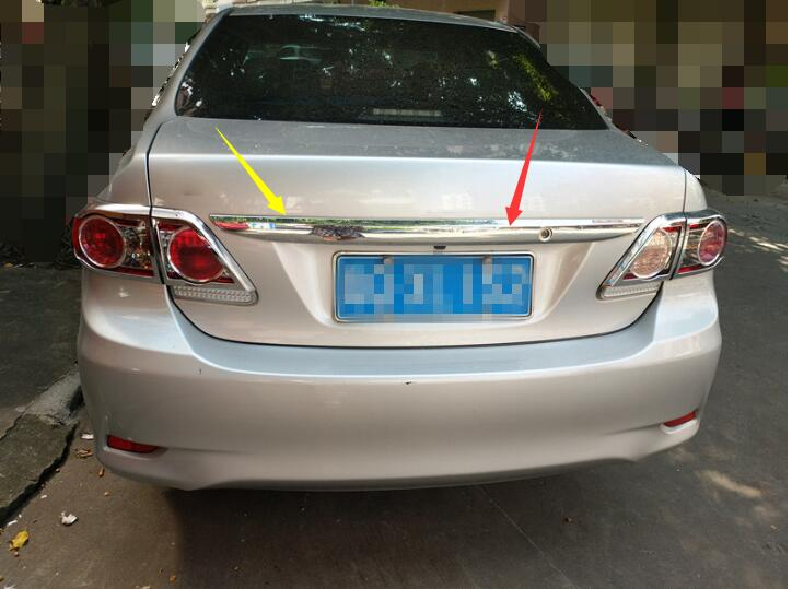 Car styling For Toyota Corolla 2011 2012 2013 Abs Chrome 1pc Per Set Car Rear Trunk Molding Lid Cover Trim купить