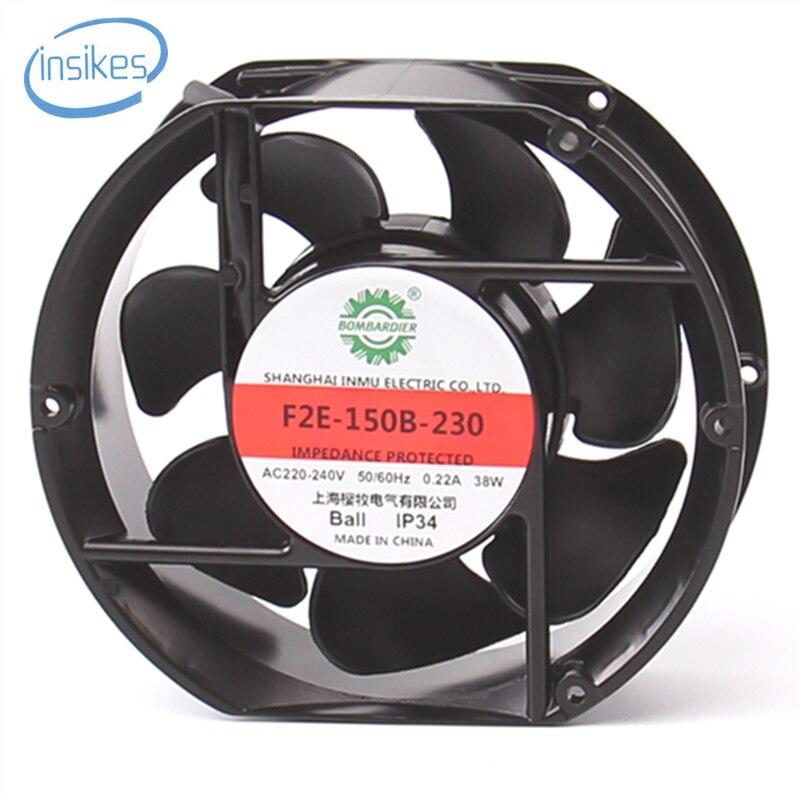 DHL Free F2E-150B-230 AC 220V-240V 0.22A 38W 2600RPM 17250 17cm 172*150*50mm 2 Wires 50/60HZ Axial Cooling Fan запонка arcadio rossi запонки со смолой 2 b 1026 20 e