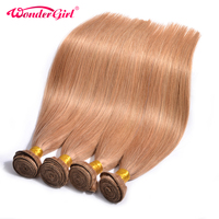 Wonder Girl Color 27 Honey Blonde Brazilian Straight Hair 1 PC 100 Human Hair Bundles 12