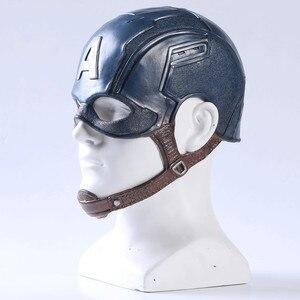 Image 3 - Movie Captain America 3 Civil War Captain America Mask Cosplay Steven Rogers Superhero Latex Helmet Halloween For Men Party Prop