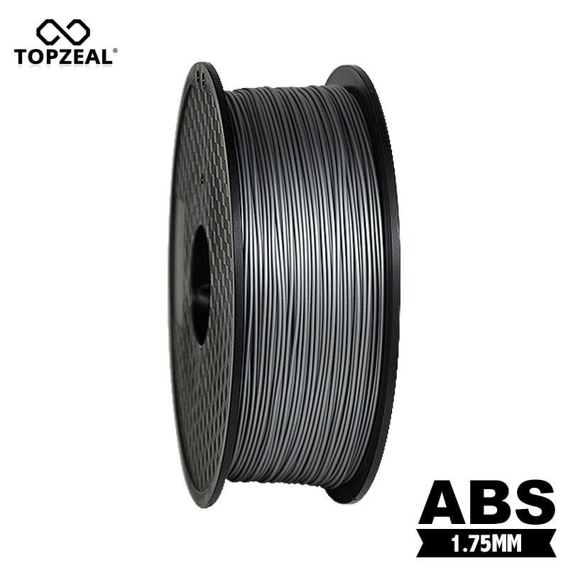TOPZEAL ABS 3D Printer Filament 1.75mm 1KG Spool 3D Plastic Printing Materials Filament Silver Color-in 3D Printing Materials from Computer & Office    1