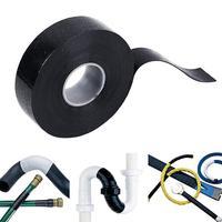 Black Rubber Performance Repair Bonding Rescue Self Fusing Electrical Wire Hose Tape 4meters