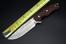 Space Fibreboard Handle Fixed Blade Tactical Knife Beautiful Camping Knife Fixed Blade 1819#