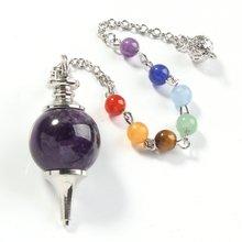 Модные бусины с серебряным покрытием искусственная чакра каменная
